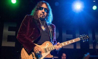 Ace Frehley playing guitar