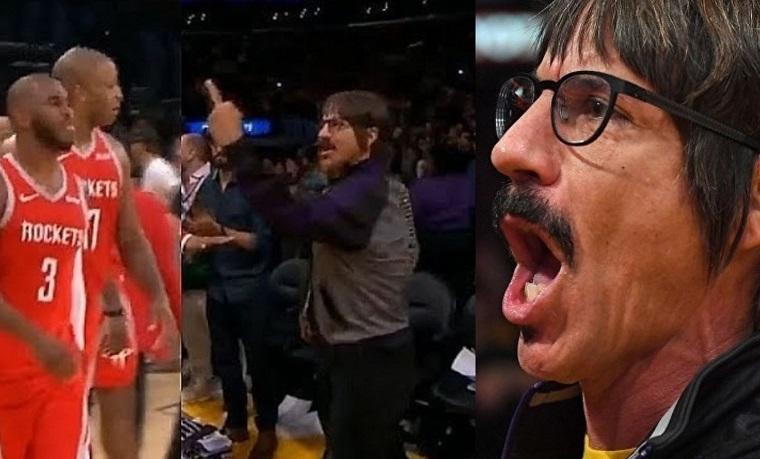 Anthony Kiedis lakers game fight