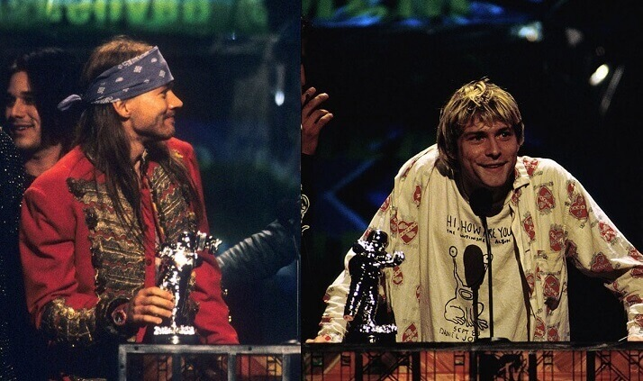 Axl Rose and Kurt Cobain