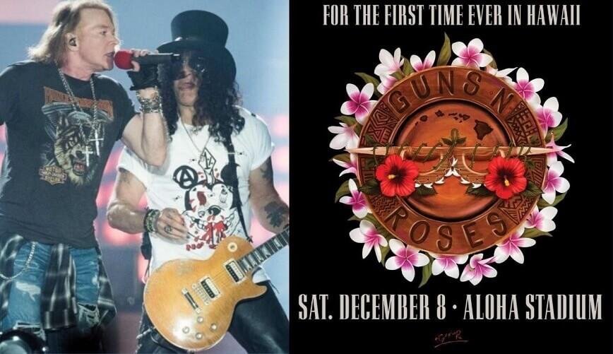 Guns N Roses in Hawaii