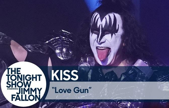 Kiss love gun Jimmy Fallon