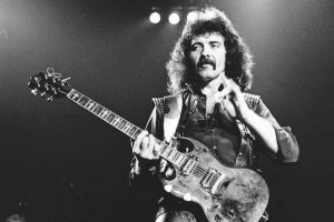 Tony Iommi black and white