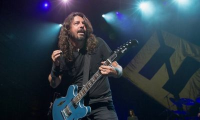 Dave Grohl playing guitar
