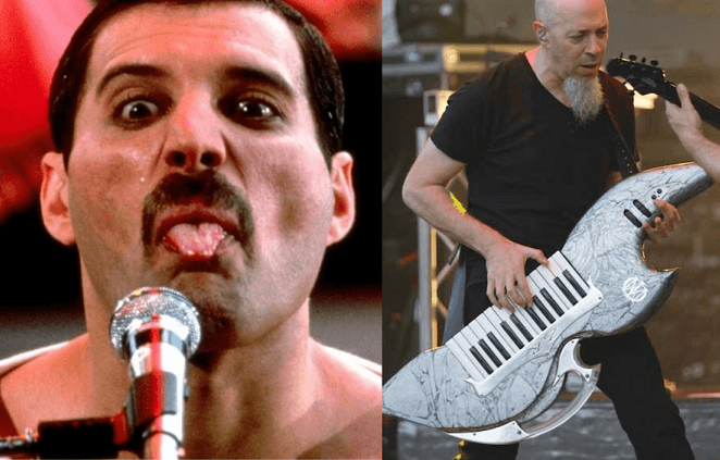 Freddie Mercury and Jordan Rudess
