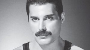 Freddie Mercury black and white