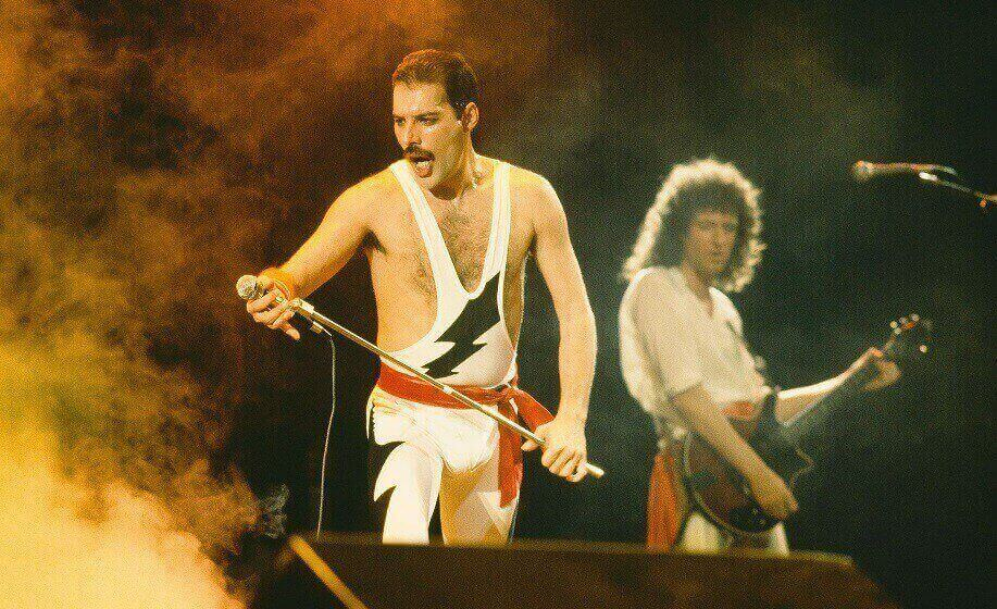 Freddie Mercury on stage