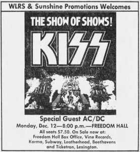 Kiss and acdc ticket