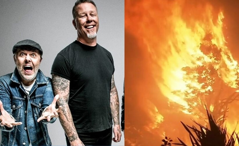 Metallica California fire