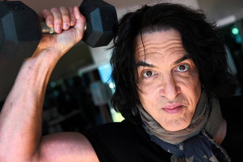 Paul Stanley working out