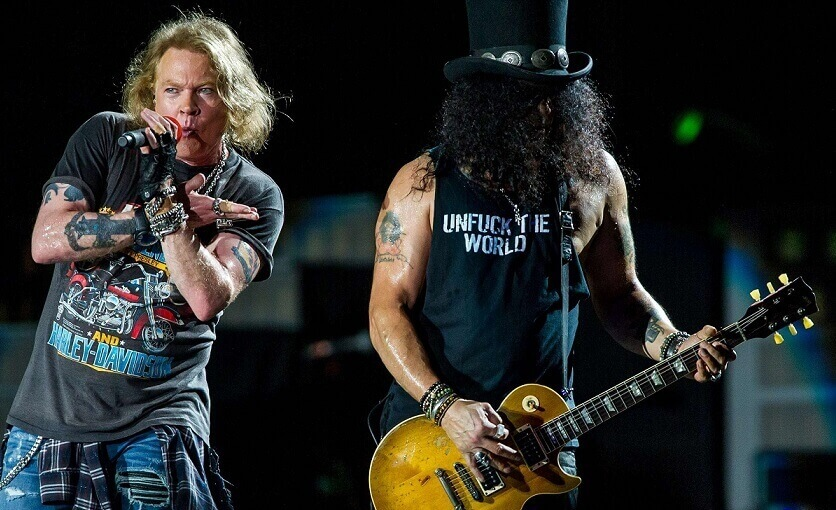 Slash and Axl 2018