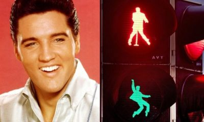 Elvis Presley traffic lights