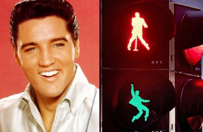 Elvis Presley traffic lights