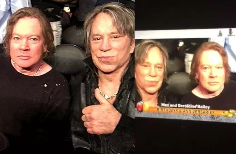Canadian TV confuses Axl Rose and Mickey Rourke with a couple