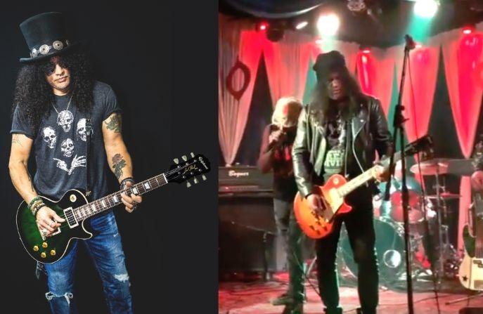 Slash playing Led Zeppelin Beatles