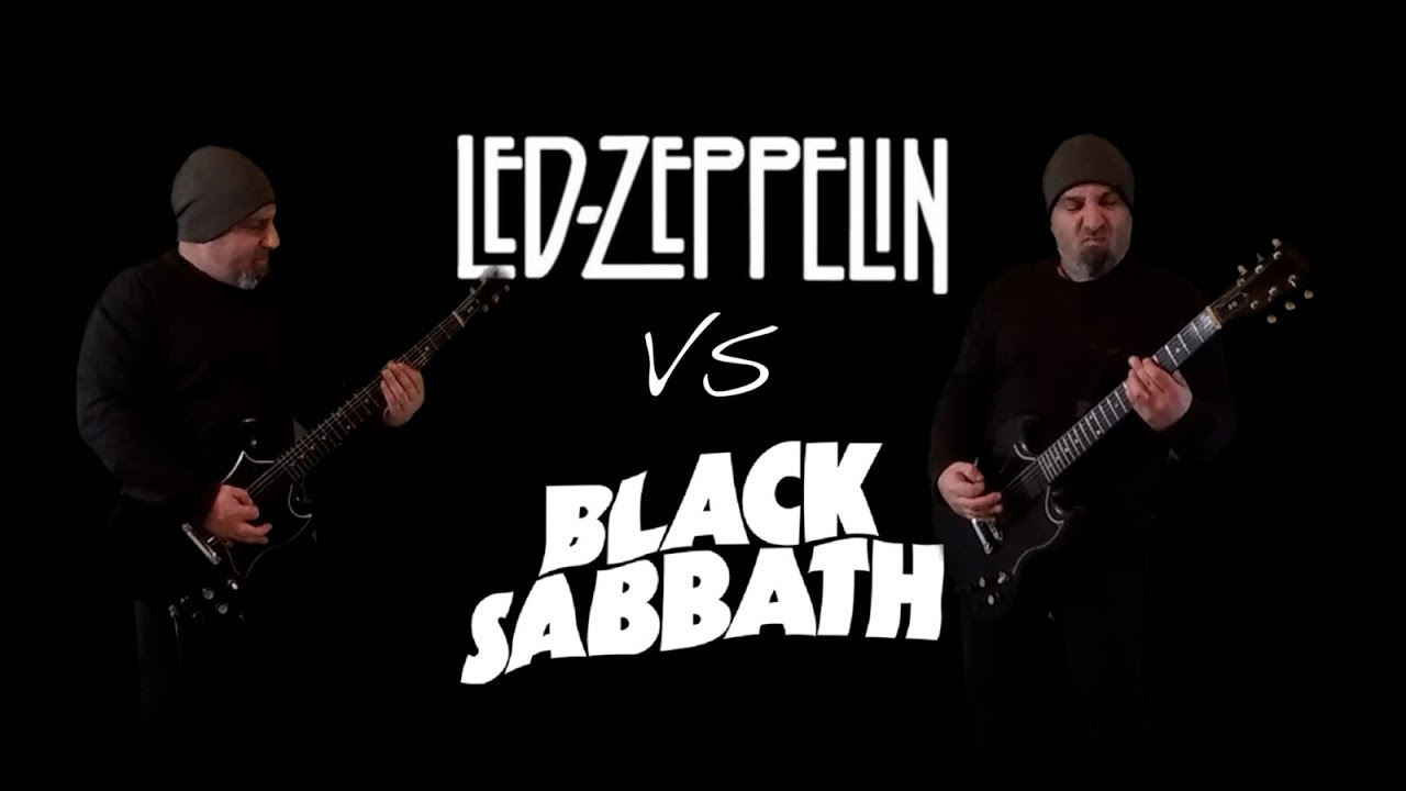 Zeppelin Sabbath riff battle