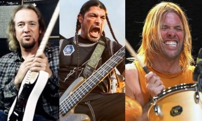 Adrian Smith Robert Trujillo Taylor Hawkins