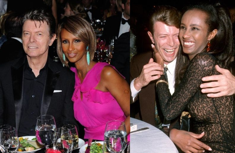 David Bowie and Wife