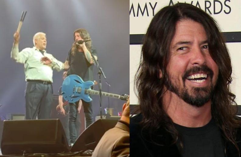 Drunk fan Foo Fighters