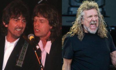 George Harrison Mick Jagger Robert Plant