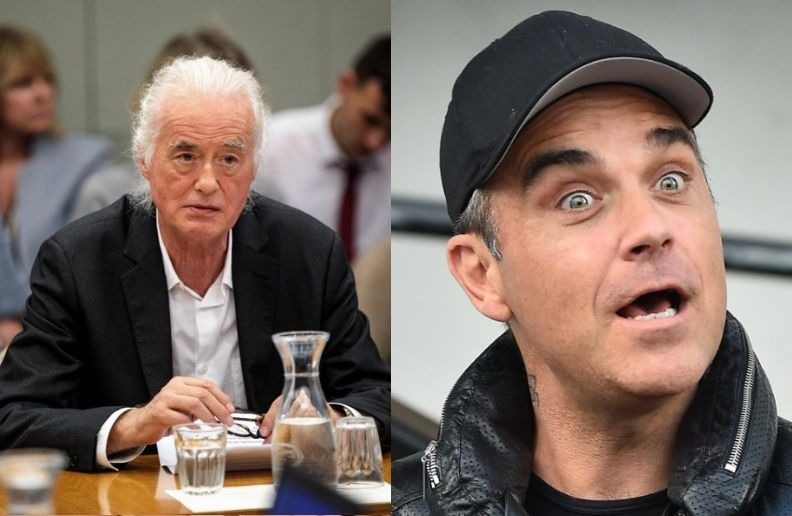 Jimmy Page Robbie Williams