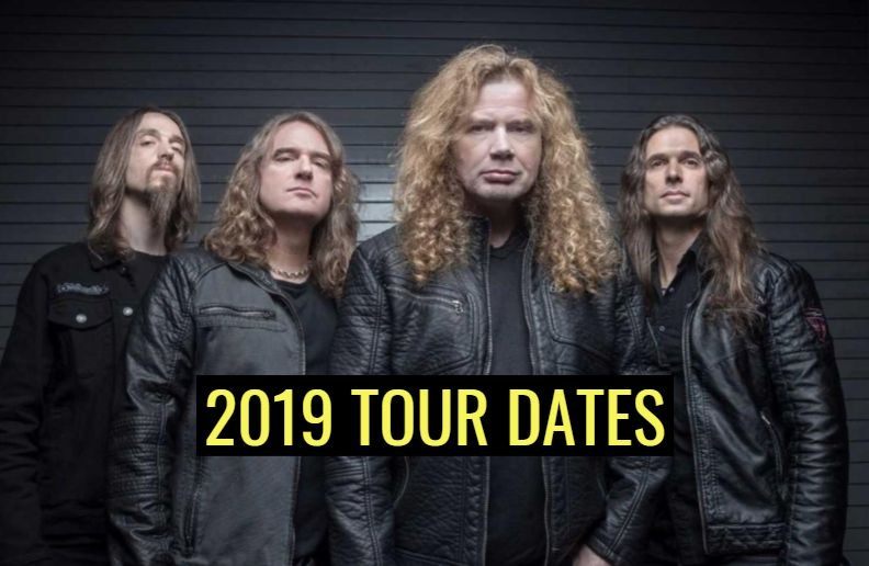 Megadeth tour dates 2019