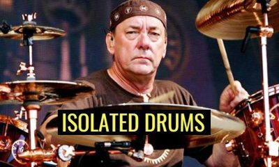 Neil Peart isolated drums