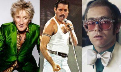 Rod Stewart Freddie Mercury Elton John