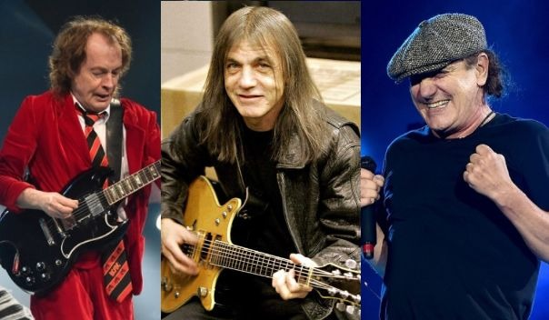 Angus Young Brian Johnson Malcolm Young