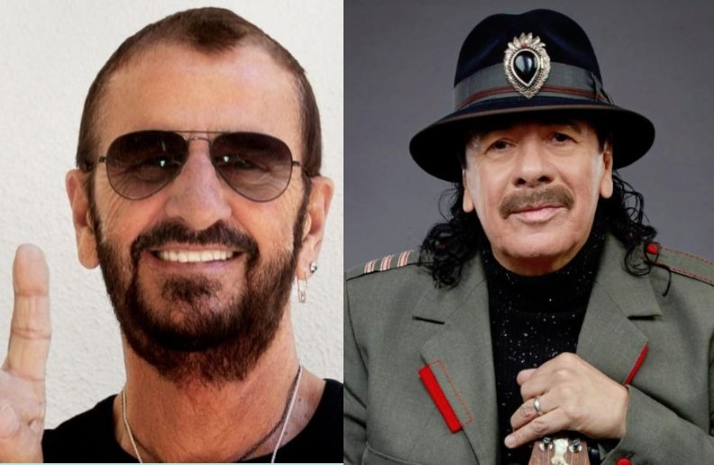 Ringo Starr Carlos Santana