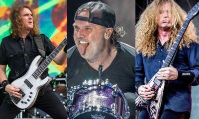 David Ellefson Lars Ulrich Dave Mustaine