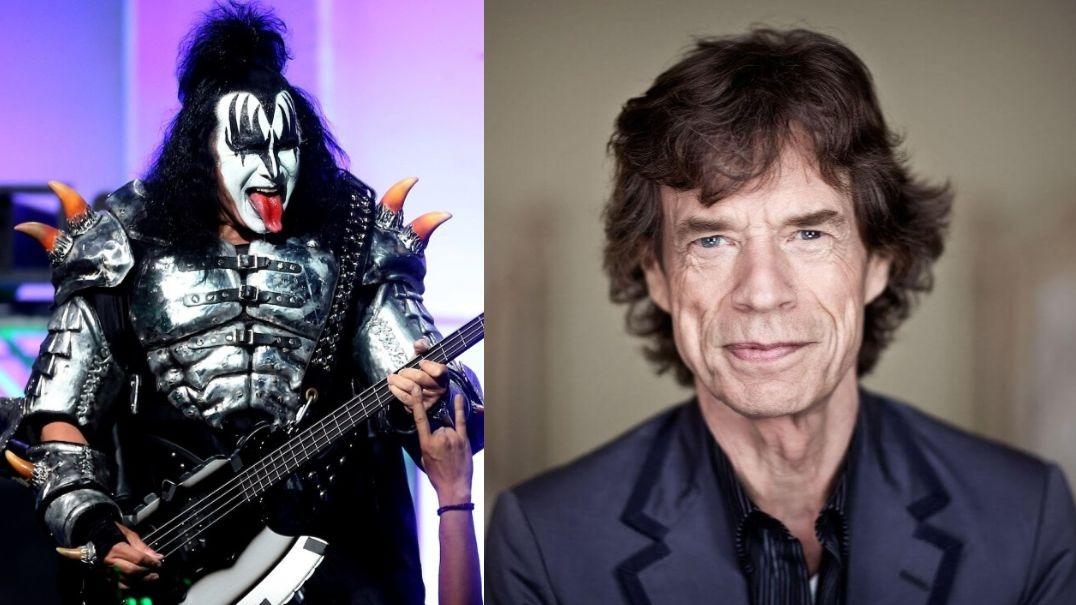 Gene Simmons Mick Jagger
