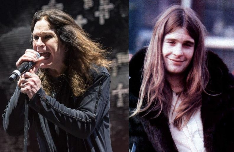Ozzy Osbourne now and then