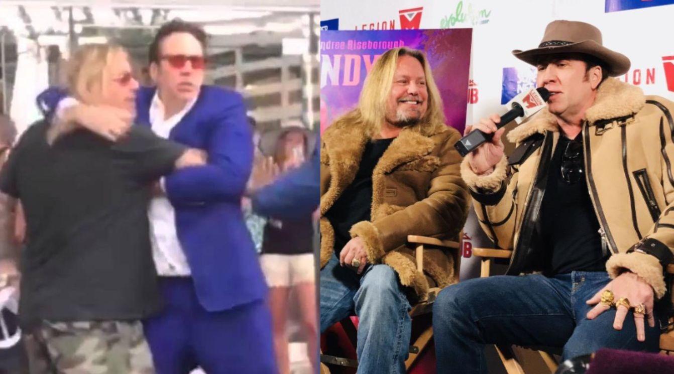 Nicolas Cage Vince Neil Fight