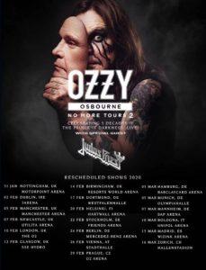 Ozzy Osbourne european 2020 tour