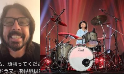 Dave Grohl 9 year old drummer