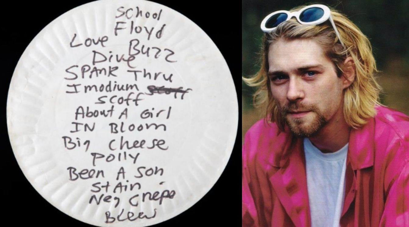 Kurt Cobain pizza plate