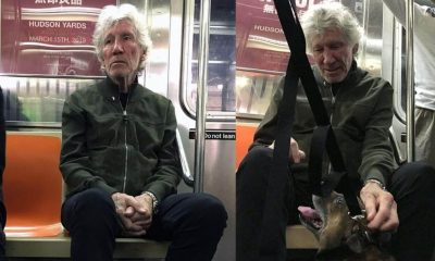 Roger Waters on the subway 2019