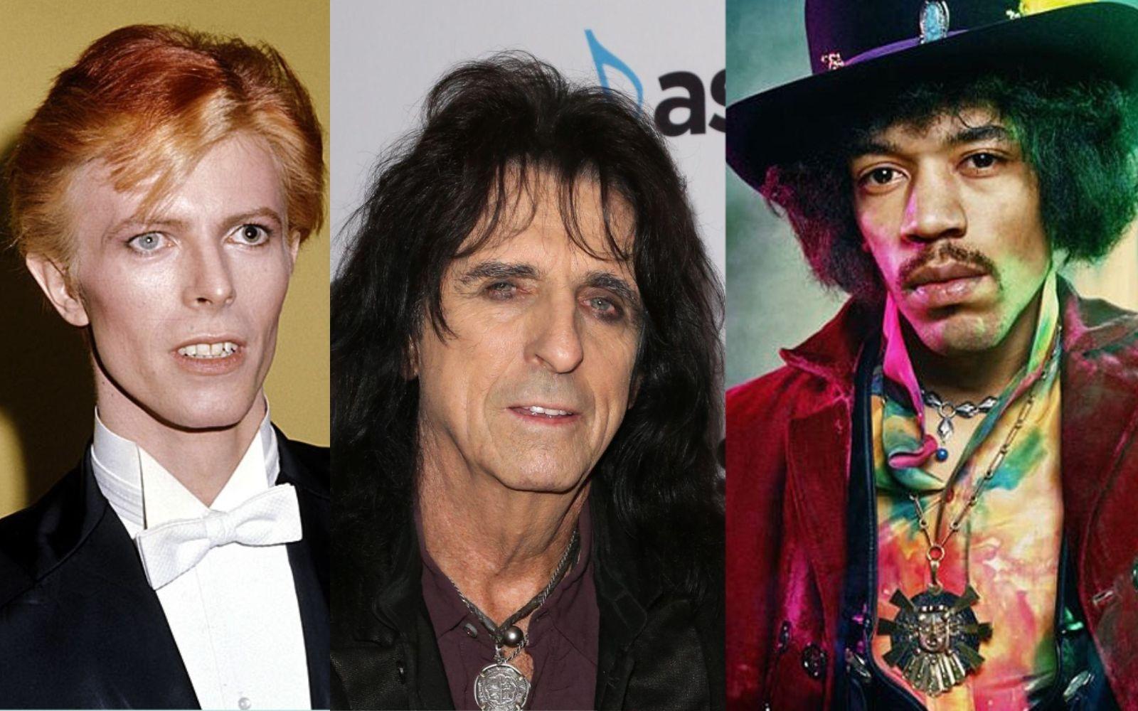 David Bowie Alice Cooper Jimi Hendrix