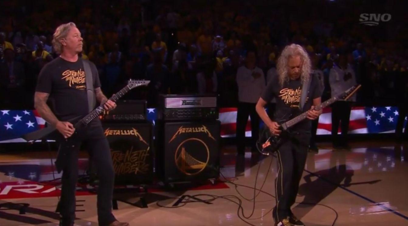 James Hetfield Kirk Hammett
