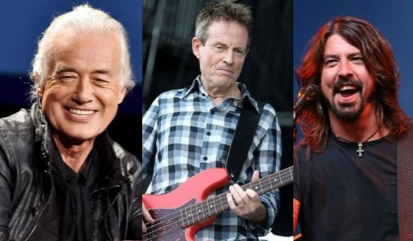 Jimmy Page John Paul Jones Dave Grohl