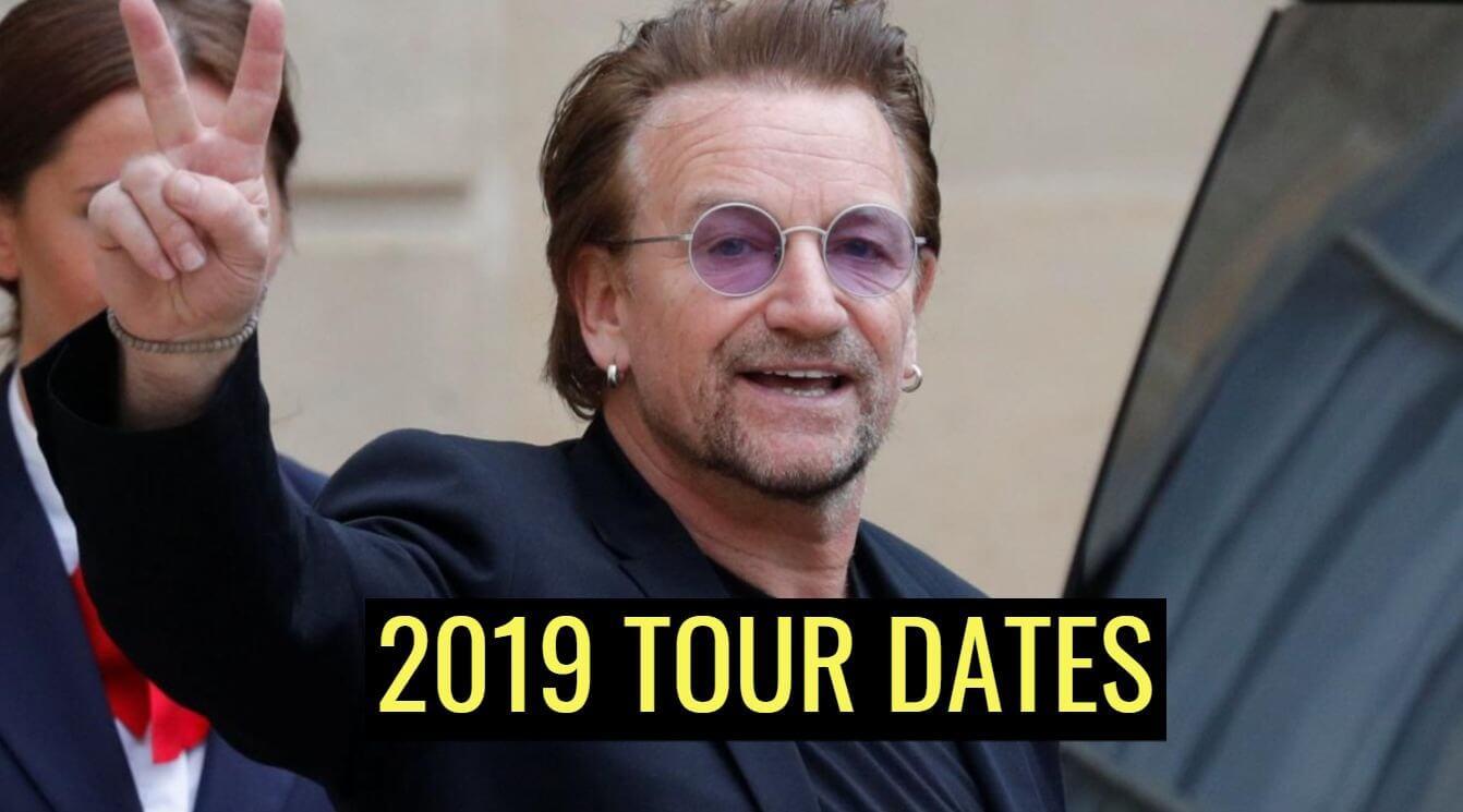 U2 2019 TOUR DATES