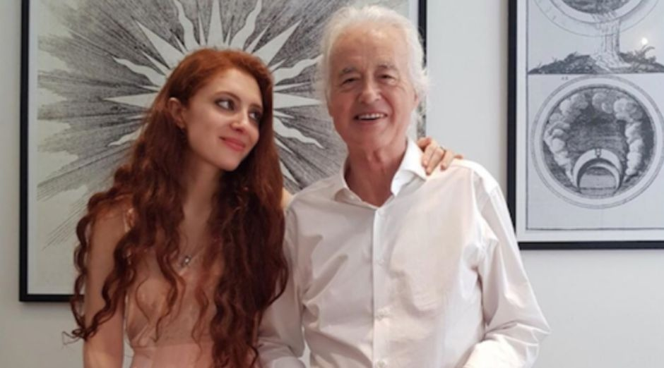 Jimmy Page and girlfriend 2019