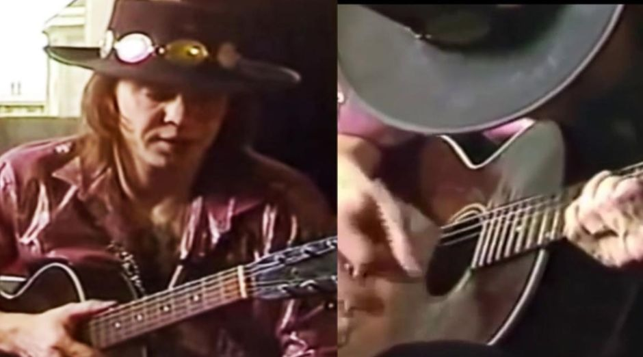 Stevie Ray Vaughan acoustic guitar