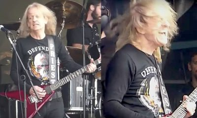 KK Downing back on stage
