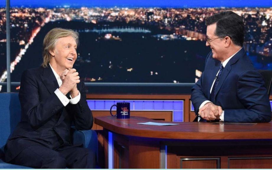 Paul McCartney Stephen Colbert