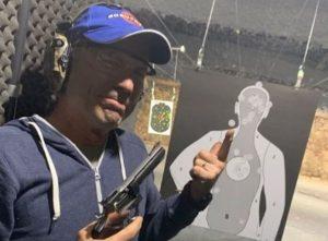 Bruce Dickinson gun