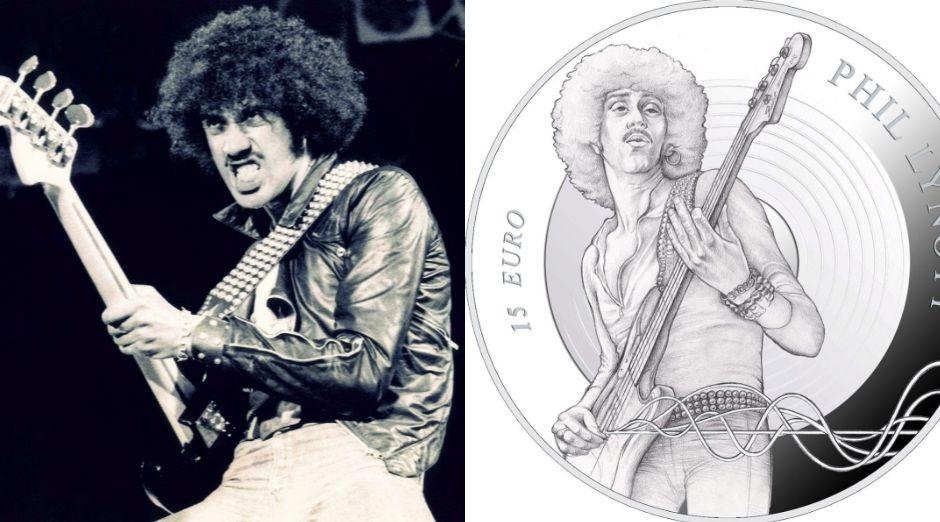 Phill Lynott Thin Lizzy coin