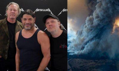 Metallica Australia fire