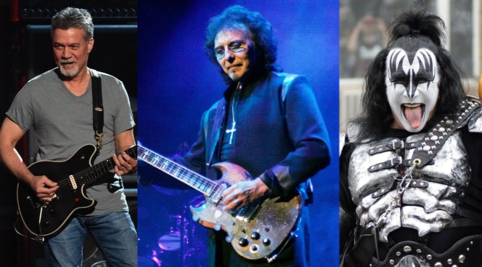 Eddie Van Halen Tony Iommi Gene Simmons