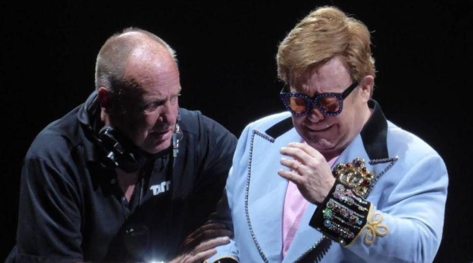 Elton John crying